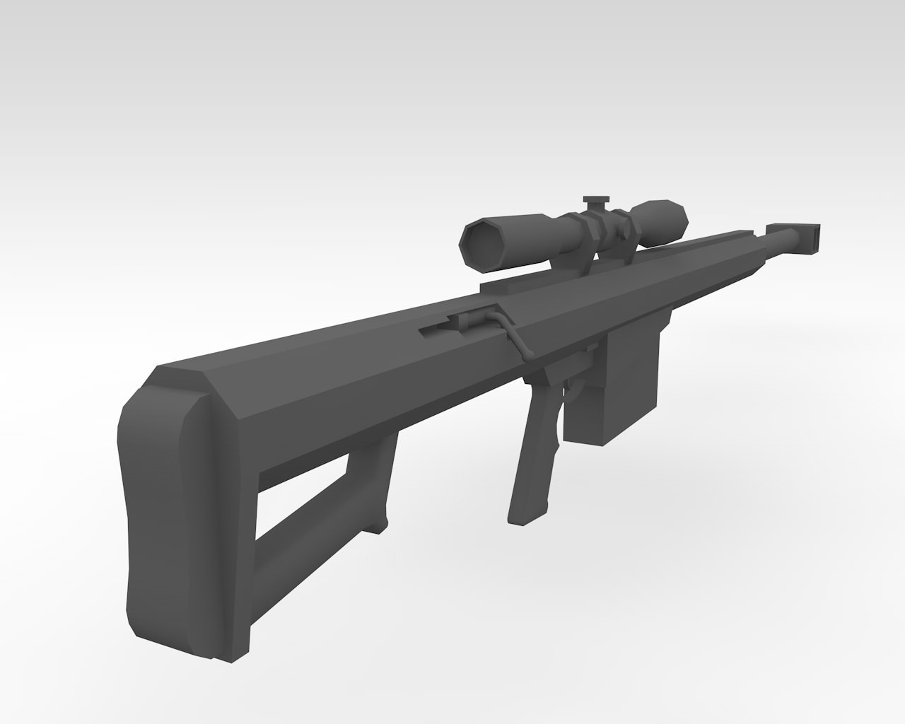 Barrett M99 | Low Poly